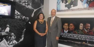 Abren exposición gráfica en honor a Martin Luther King, Jr.