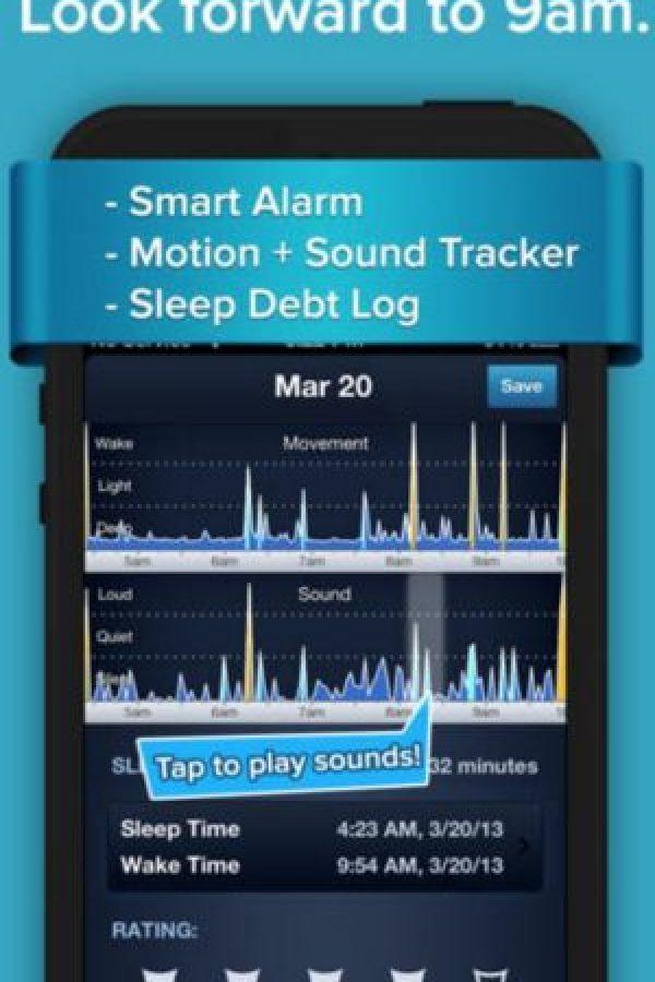Es un rastreador de ciclo del sueño y alarma inteligente intuitiva. Puede personalizar cómo pueden dormir y despertar suavemente cada mañana durante su fase más ligera del sueño. Además pueden escuchar bandas sonoras ambiente mientras duermen. Foto:SleepBot