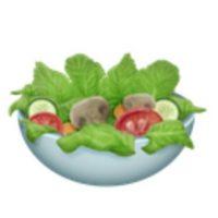 Ensalada verde. Foto:vía emojipedia.org