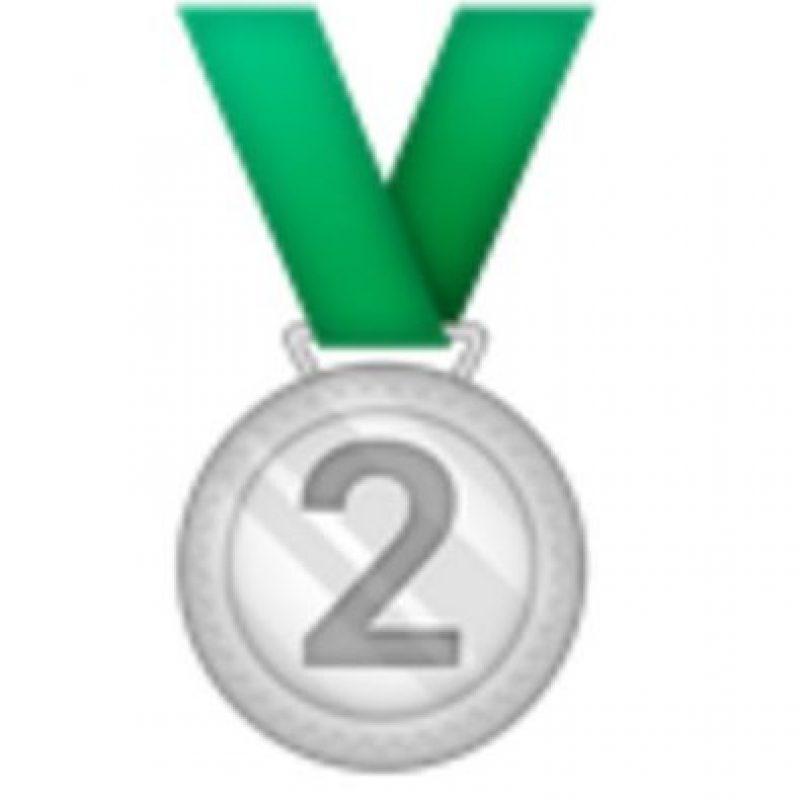 Medalla de plata, segundo lugar.