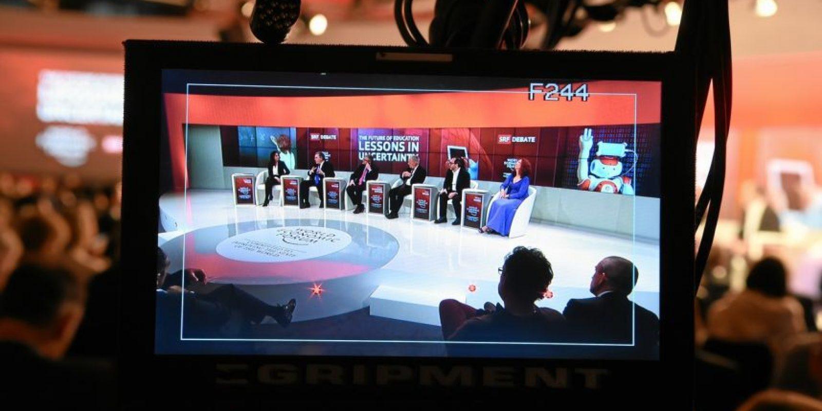 """La sesión """"El futuro de la educación"""". Foto:Vía weforum.org"""