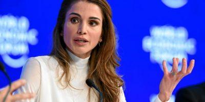 La Reina Rania Al Abdullah de Jordania en una sesión plenaria. Foto:Vía weforum.org