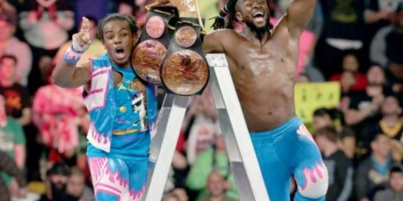 The New Day se impuso en el combate. Foto:WWE