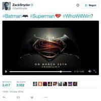 "Zack Snyder presentó los emojis de ""Batman V Superman"". Foto:twitter.com/ZackSnyder"