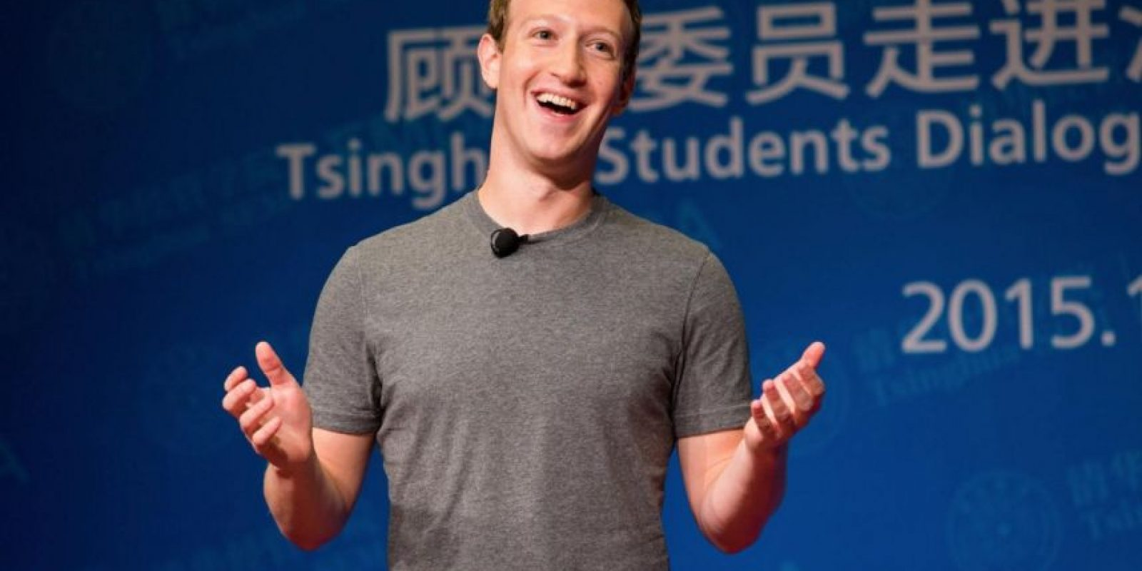 Mark en un evento en China en octubre de 2015. Foto: Vía facebook.com/zuck