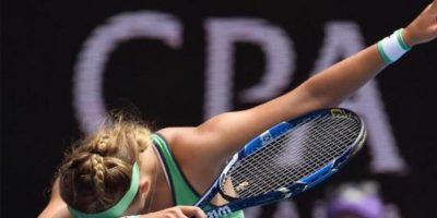 Y la tenista Victoria Azarenka no se quiso quedar atrás en el Abierto de Australia Foto:Getty Images