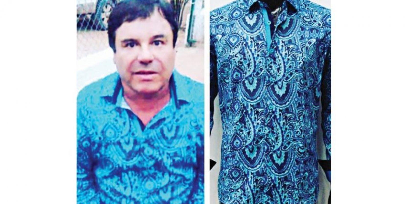 """La marca de las camisas con las que se mostró """"El Chapo"""" Guzmán tiene su momento de éxito, gracias a las fotos del narco. / INSTAGRAM / Barabas"""
