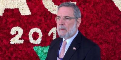Rodríguez Marchena se muestra admirado por creatividad floral de ecuatorianos