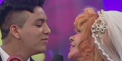 Incluso se casaron simbólicamente en la televisión peruana. Foto:vía Al Aire Tv