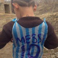Encontraron al fan más modesto de Lionel Messi Foto:Twitter