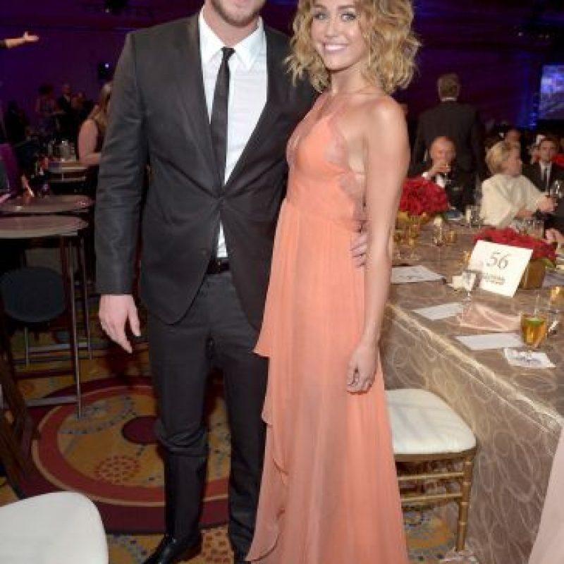 Así luce Miley con Liam Foto:Getty Images