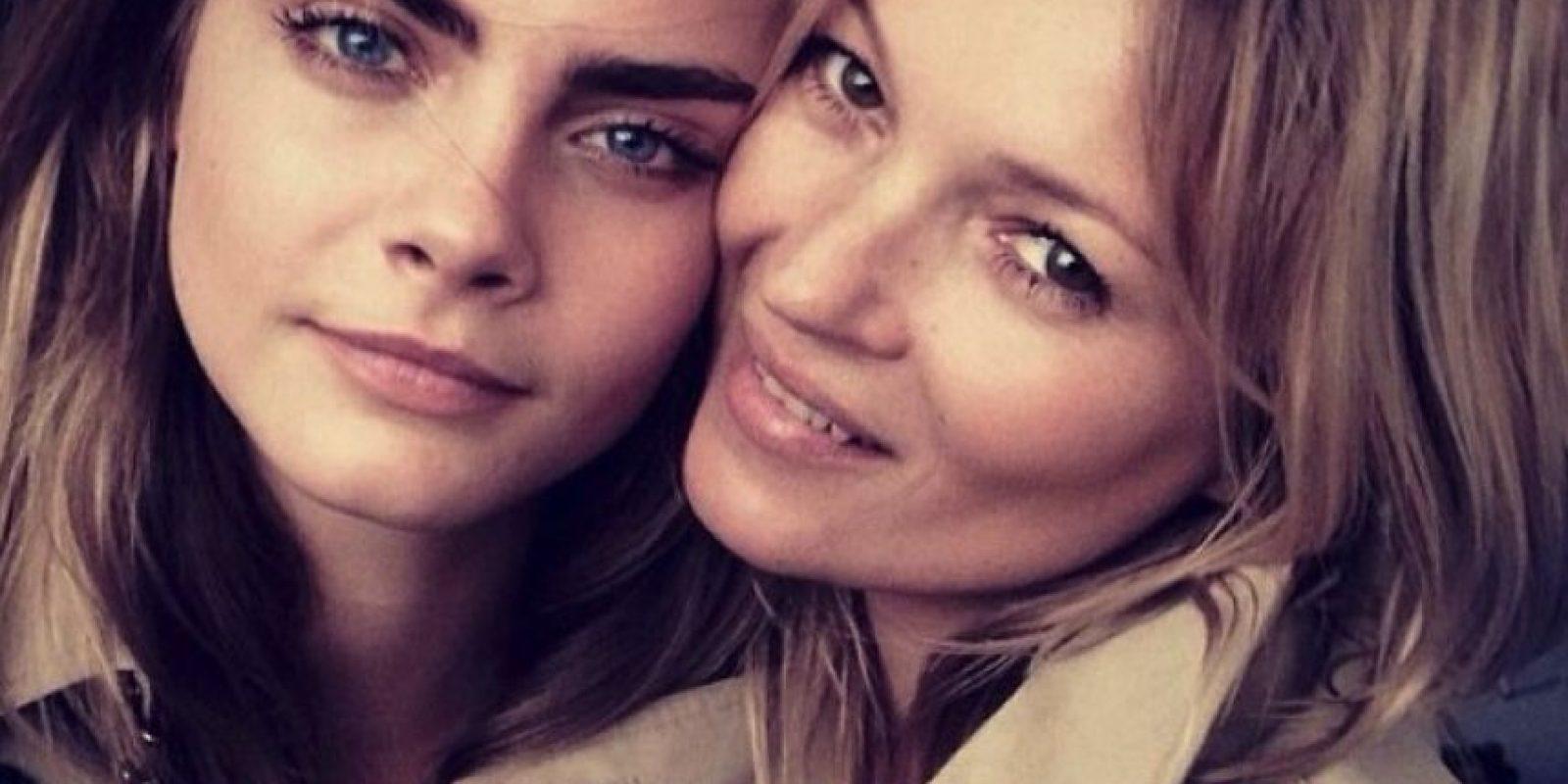 Aquí con Kate Moss Foto:Instagram