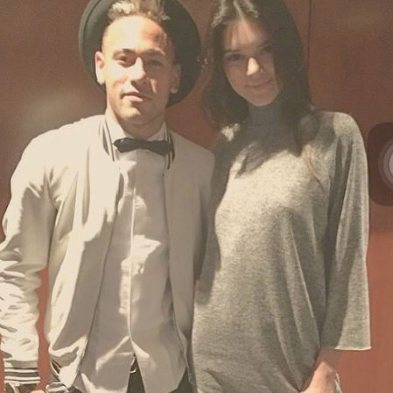 Neymar se mostró feliz de conocer a Kendall Jenner Foto:Vía instagram.com/neymarjr