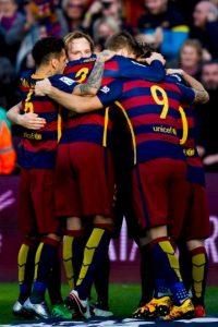 Barcelona se impuso 2-1 al Atlético de Madrid Foto:Getty Images