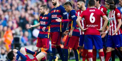 Así lastimaron a Lionel Messi los futbolistas del Atlético de Madrid