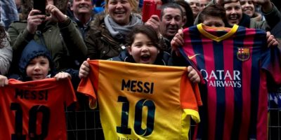 Los mejores momentos de Messi con sus fanáticos Foto:Getty Images