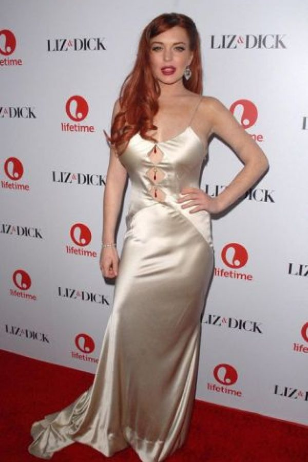 Lindsay Lohan en la versión degenerada de Jessica Rabbit. Foto:vía Getty Images