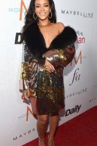 """Rihanna en homeless yuppie al estilo """"Dinastía"""": Foto:vía Getty Images"""