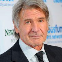 Harrison Ford ocultó muy bien los daños de su mentón. Foto:vía Getty Images