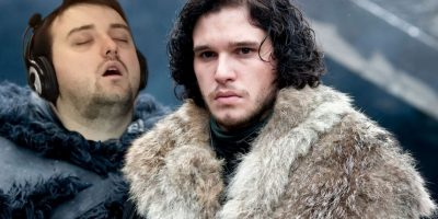 """Junto a Jon Snow, de la serie """"Game of Thrones"""" Foto:Imgur / Reddit"""