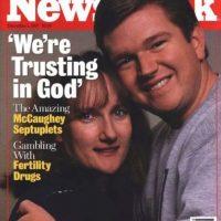 """Se opusieron al método de reducción selectiva (para eliminar al número de fetos). Dijeron que dejaban todo en """"manos de Dios"""". Foto:vía Getty Images"""