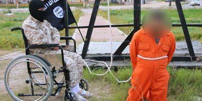 Yihadista de Estado Islámico realiza ejecución en silla de ruedas