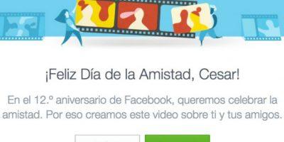 """Eliminen a las personas no deseadas del video por el """"Día de la amistad"""" en Facebook. Foto:Vía Facebook"""