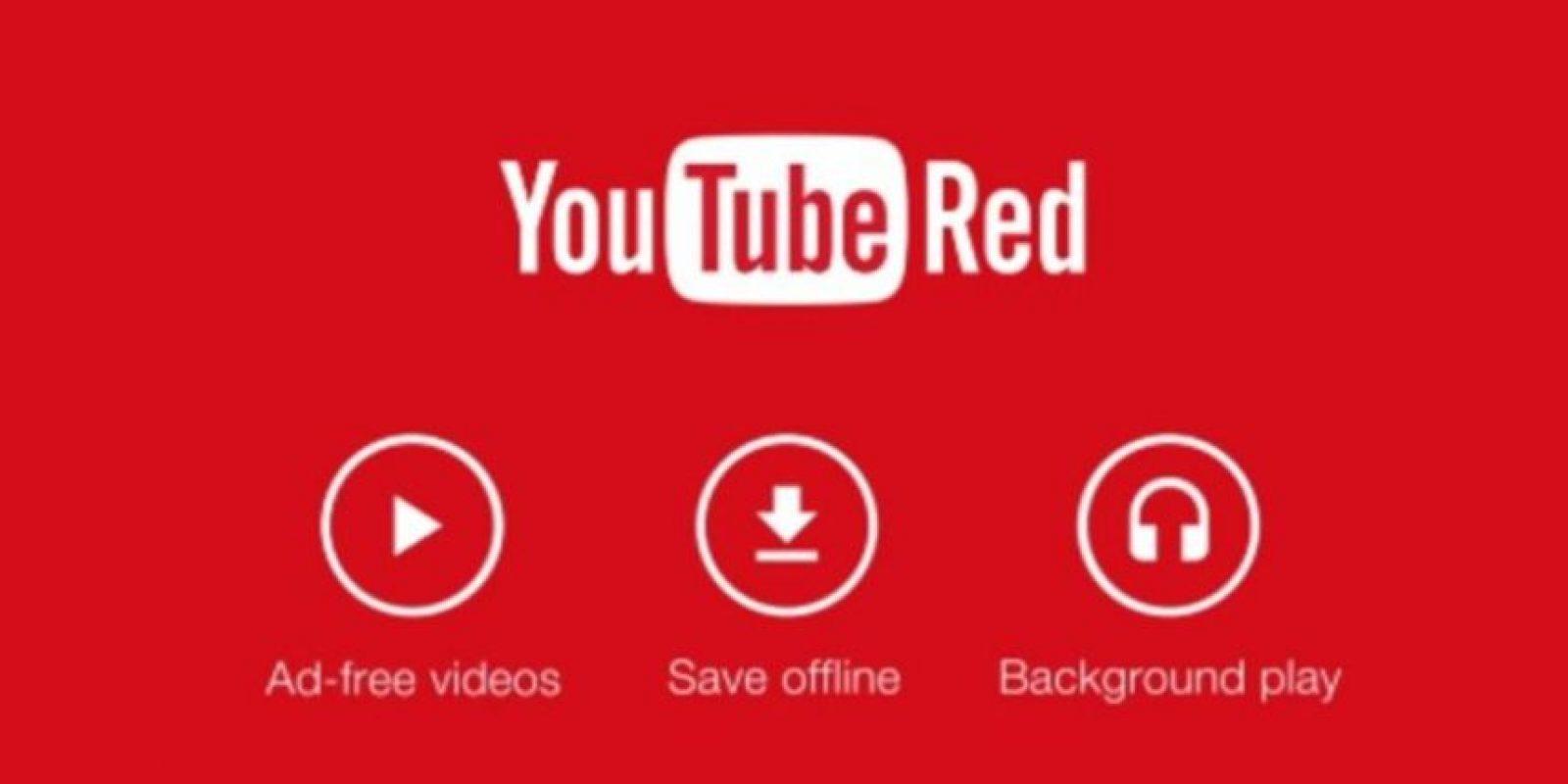"""Los servicios de """"YouTube Red"""": Videos sin anuncios, sin conexión a Internet y en el fondo de la pantalla. Foto:Vía YouTube"""