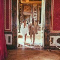 El evento se realizó en el castillo Forte Beleveder de Florencia Foto:Vía instagram.com/kimkardashian