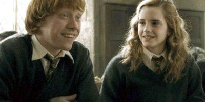 Muchos nunca aceptaron que Ron y Hermione terminaran juntos. Foto:vía Warner Brothers