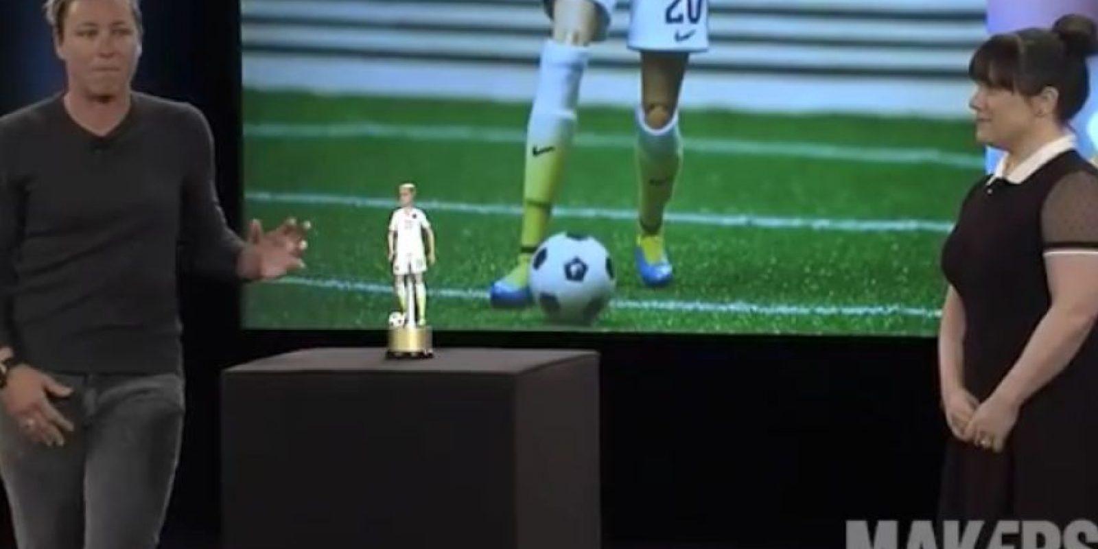 El juguete está inspirado en la futbolista estadounidense Abby Wambach. Foto:Vía instagram.com/makerswome