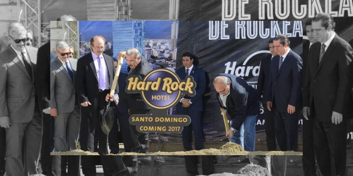 Medina participa en acto de inicio construcción Hard Rock Hotel Sto. Domingo