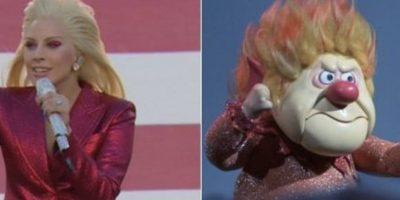 Y Lady Gaga fue comparada con todo mundo por su atuendo rojo. Foto:Vía twitter.com
