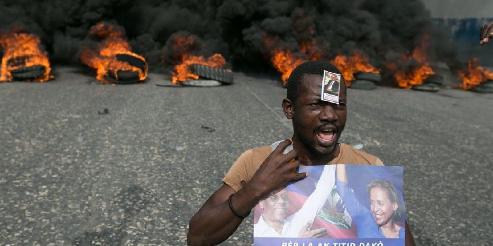 La población haitiana no se detiene en sus reclamos Foto:EFE