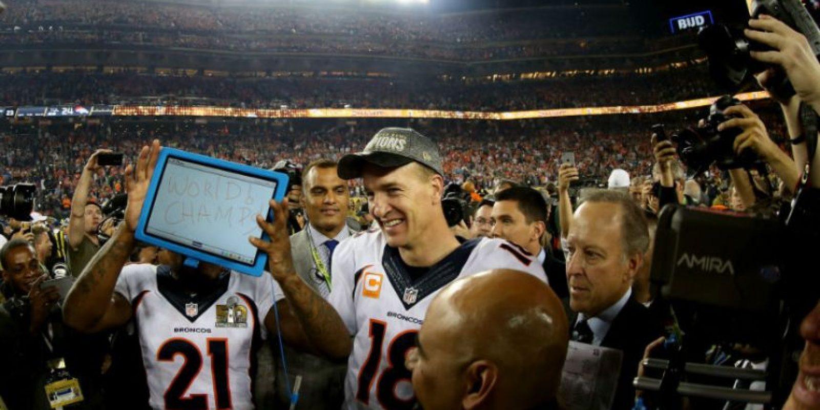 Así festejaron los campeones Broncos de Denver el título en el Super Bowl 50 Foto:Getty Images