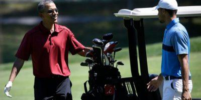 Curry confesó que ha jugado golf con el presidente. Foto:AP