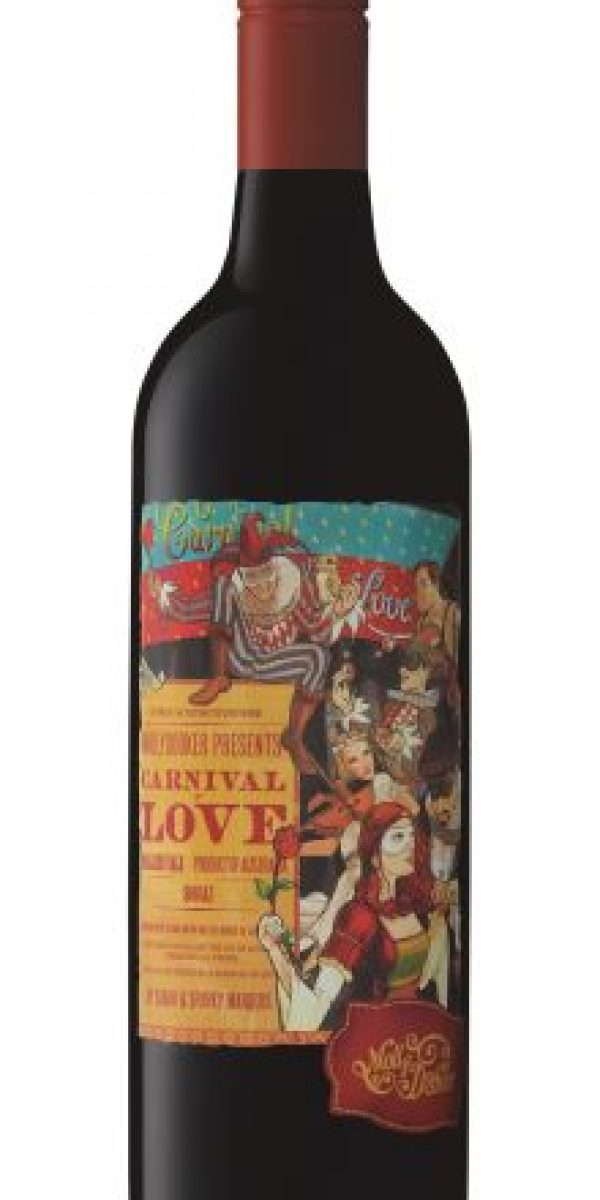 Mollydooker Carnival of Love Shiraz. Los Vinos Mollydooker son conocidos por sus seguidores como ''los vinos ¡wow!'' y este Carnaval of Love Shiraz confirma por qué les llaman así. En 2014 fue galardonado como el mejor Shiraz de Australia, y ese mismo año fue seleccionado por la revista Wine Spectator como el segundo mejor vino del mundo, con 95 puntos. Después de dar esos datos, la descripción sobra. Foto:Fuente Externa