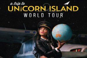 """A trip to Unicorn Island. Película que muestra la vida de Lilly Singh, youtuber que se prepara para iniciar un tour con su show. """"La felicidad es lo único por lo que vale la pena luchar"""", sostiene. Foto:Fuente Externa"""