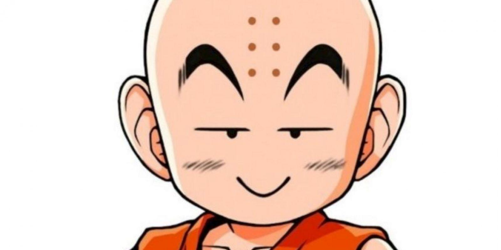 Los puntos que tiene Krillin en la frente son marcas de quemaduras de incienso, ya que él quería ser monje en el templo Orin. Foto:Toei