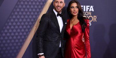 La actriz y conductora le lleva ocho años al futbolista del Real Madrid Foto:Getty Images