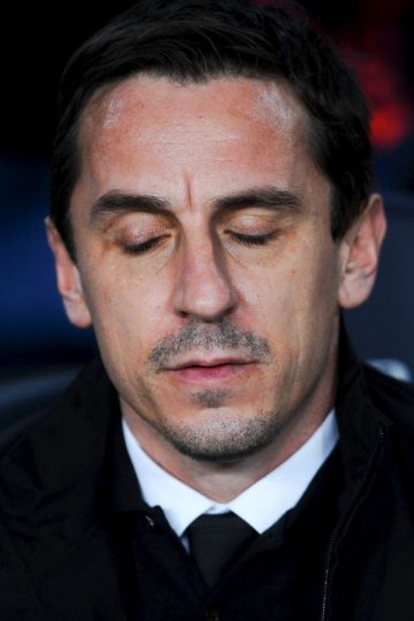 Gary Neville, DT del Valencia, conoce que la eliminatoria es casi imposible de remontar Foto:Getty Images