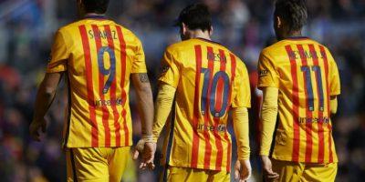 Luis Enrique decidió dejar en Barcelona al tridente ofensivo Foto:Getty Images