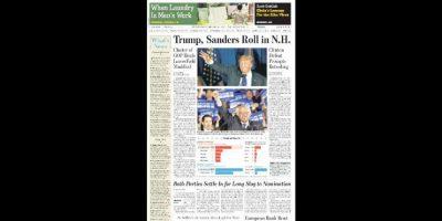 La victoria de Sanders y Trump causó sensación e impacto en los medios. Foto:The Wall Street Journal
