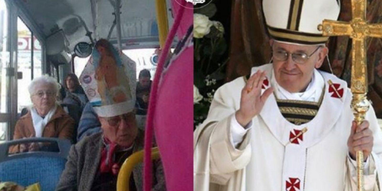 El Papa. Foto:vía Facebook/ Parecidos de Bondis