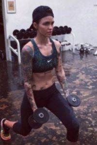 Ruby Rose y su rutina de pesas Foto:Via Instagram/@RubyRose
