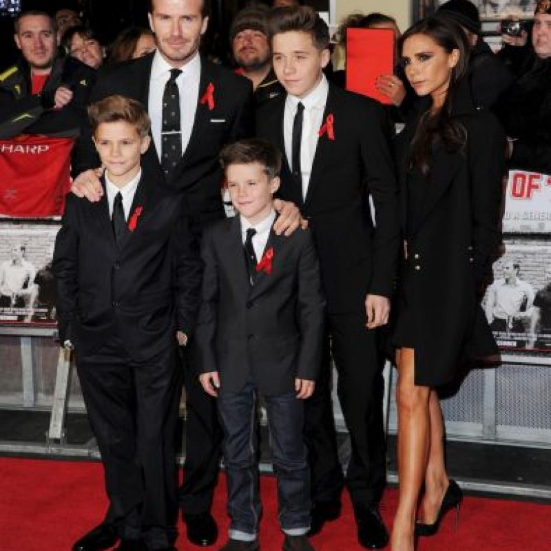 Aquí la familia Beckham Foto: Getty Images