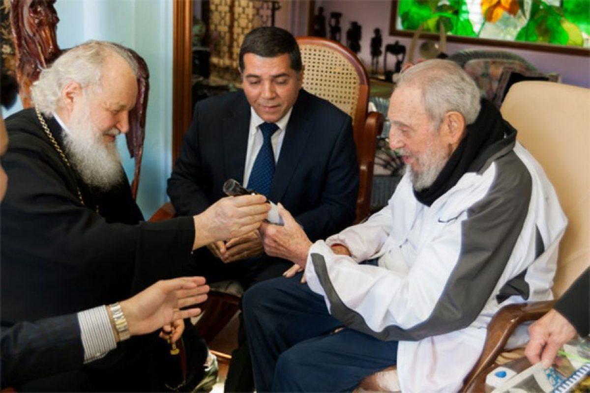 El patriarca Kiril visita a Fidel Foto:EFE