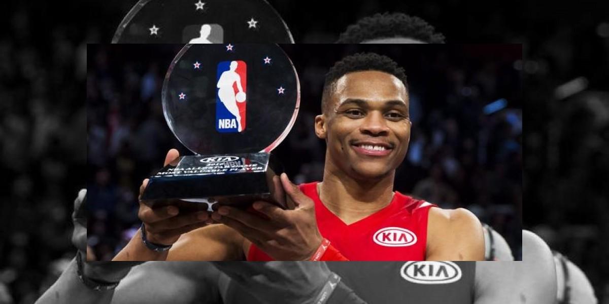 Russell Westbrook gana MVP del   All-Star por segundo año consecutivo