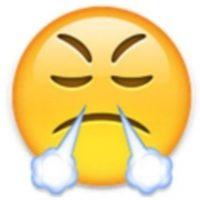 1. Utilizada comunmente para expresar enfado o frustración, en realidad es un rostro con mirada de triunfo. Foto:Vía emojipedia.org
