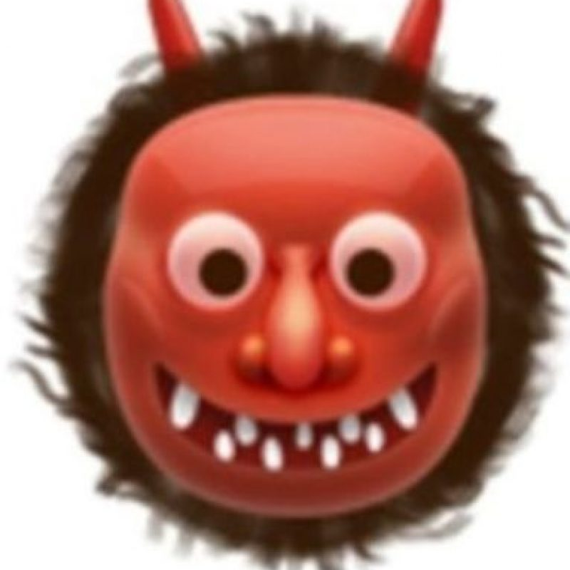 10. También usado para representar al demonio, aunque en verdad es un ogro japonés. Foto:Vía emojipedia.org